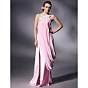 Prom / Military Ball / Formal Evening Dress - Blushing Pink Plus Sizes / Petite Sheath/Column One Shoulder Floor-lengthChiffon /