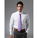 Spread Collar Plain Fly Front Shirt