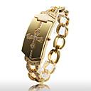Women's Fashionable Gold Alloy Quartz Bracelet Watch