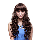 Capless Long Top Grade Quality Synthetic Brown Curly Charming Wig
