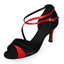 høj kvalitet satin øverste højhælede Latin Dance sko balsal sko til kvinder flere farver