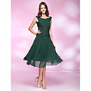 TS Couture® Cocktail Party / Holiday / Wedding Party Dress - Dark Green Plus Sizes / Petite A-line / Princess Bateau Knee-length Chiffon