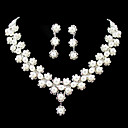 Women's Imitation Pearl/Silver/Alloy Jewelry Set Rhinestone