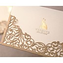 Wedding Invitation In Gold Gorgeous Lace Cut-out(Set of 50)