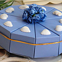 luce cake box azzurro favore di shell (set di 10)
