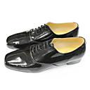 Chaussures de danse (Noir/Blanc) - Non personnalisable - Gros talon - Cuir - Salle de bal