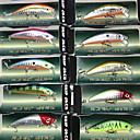 harde agn minnow 70mm 8.5g synker fiske lokke pakker (10 stk)
