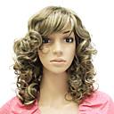 Capless Medium Long Synthetic Curly Hair Wig