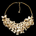 Fashion Alloy With Natural Shell Rhinestone Necklace