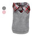 Dog Sweater / Shirt / T-Shirt / Shirt Pink / Gray Winter / Spring/Fall Plaid/Check Fashion