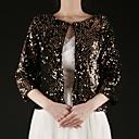 prachtige katoen 3/4-length mouw bruiloft / speciale gelegenheid 's avonds jas / wrap (meer kleuren) bolero schouderophalen