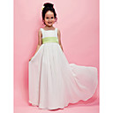 A-line/Princess Floor-length Flower Girl Dress - Chiffon Sleeveless