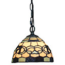 1 licht tiffany hanglamp met glazen kap
