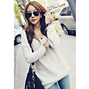 Women's Solid Casual Long Sleeve