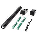 Petit dim. ZY-T19 bâton en forme de cri T6 LED Flashlight Set avec No-Slip Grip (4x18650)