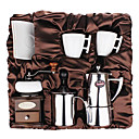Coffee Series Boxed Gift (Moka & Siphon Pot, Grinder, Cups, Bubble Milk Device)T-008