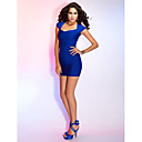 Cocktail Party/Holiday Dress - Royal Blue Sheath/Column Sweetheart Short/Mini Rayon