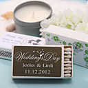 décoration de mariage boîtes d'allumettes personnalisés - coeurs gravures (jeu de 12)
