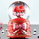 Pretty  Resin Red Heart Design Snow Globe