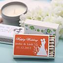 décoration de mariage boîtes d'allumettes personnalisés - heureux (ensemble de 12)