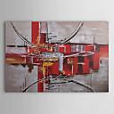 handbemalte abstrakte Ölgemälde mit gestreckten Rahmen