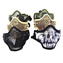 Multi-Color Breathable Airsoft Stainless Steel Mesh Skull Mask (Assorted Colors)