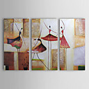 Oil Paintings Set of 3 Modern Abstract Girls Dancing Hand-painted Canvas Ready to Hang