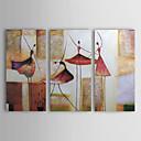 oliemalerier sæt med 3 moderne abstrakt piger danser håndmalede lærred klar til at hænge