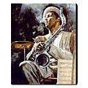 Peint à la main peinture à l'huile Jazz Art populaire 1211-PE0148