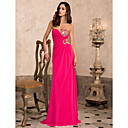 TS Couture® Prom / Formal Evening / Military Ball Dress - Fuchsia Plus Sizes / Petite Sheath/Column Sweetheart / Strapless Floor-length Chiffon