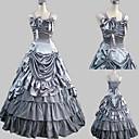 Sleeveless Floor-length Gray Satin Princess Lolita Dress