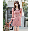 Women's Long Sleeve Slim Dress