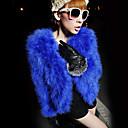 Langærmet krave Faux Fur Casual / Party Jacket (Flere farver)