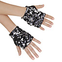 Classic Sequins Dance Gloves For Ladies(A Pair)