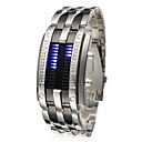 Herre Watch Digital Modeur LED / Kalender Rustfrit stål Band Armbåndsur