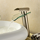 Vessel Single Handle One Hole in Nickel Brushed Bathroom Sink Faucet