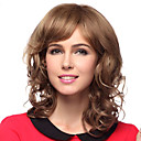 Capless Medium Curly 100% Human Hair Wigs