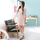Women's Chiffon Dress in Heart Print