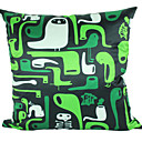 Tecknad Bird Green Polyester Dekorativ örngott