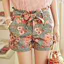 MLINA Sweet Floral Print Denim Shorts