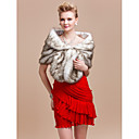 Elegant Faux Fox Fur Party / Evening / brudesjalet / Wrap
