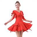 Dancewear Viscose with Crystal Latin Dance Dress For Ladies More Colors