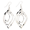 Fashionable Multilayer Button-shaped Sterling Silver Earring