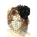 Women's Lace/Tulle/Cotton/Flannelette Headpiece - Wedding/Special Occasion Fascinators