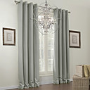 One Panel  Classic Grey Solid Blackout Curtain