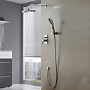 Garniture de douche ensemble de robinet mural chrome contemporain