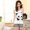 kadın sevimli panda baskı pijama (üst uzunluğu: 61cm büstü: 82cm kısa uzunluğu: 31cm)