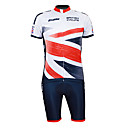 Kooplus 2013 Brittisk Mönster 100% polyester kortärmad Quick Dry Mens Cycling Suits