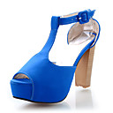 Suede Chunky Heel Sandals With Buckle Party / Evening Shoes (More Colors)