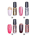 1PCS Glitter Nail Art Top Coat Decorative Polish No.5-8(7ml,Assorted Colors)